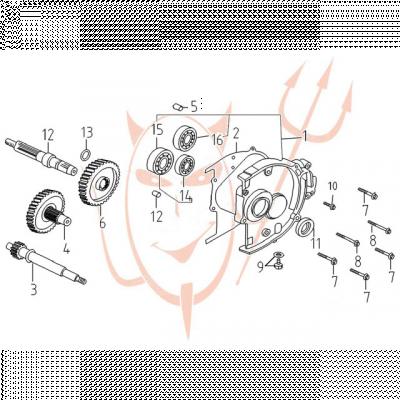 Getriebe passend für Benzhou YY125T-11