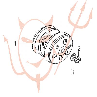 4-Takt Motor (152-QMI) 125 ccm - Kupplung