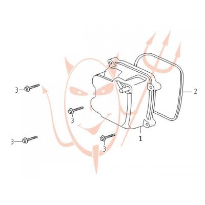 4-Takt Motor (152-QMI) 125 ccm - Ventildeckel