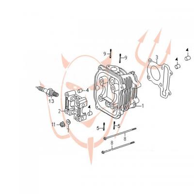 4-Takt Motor (152-QMI) 125 ccm - Zylinderkopf