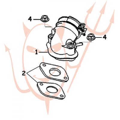 4-Takt Motor (152-QMI) 125 ccm - Ansaugstutzen