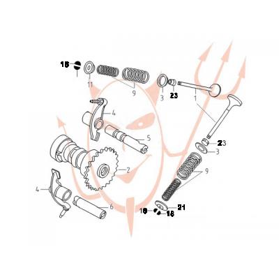 4-Takt Motor (152-QMI) 125 ccm - Ventile /...