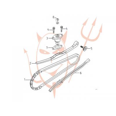 4-Takt Motor (152-QMI) 125 ccm - Steuerkette