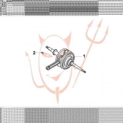 4-Takt Motor (139-QMB) 50 ccm - Kurbelwelle