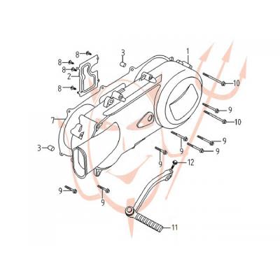4-Takt Motor (152-QMI) 125 ccm - Gehäusedeckel,...