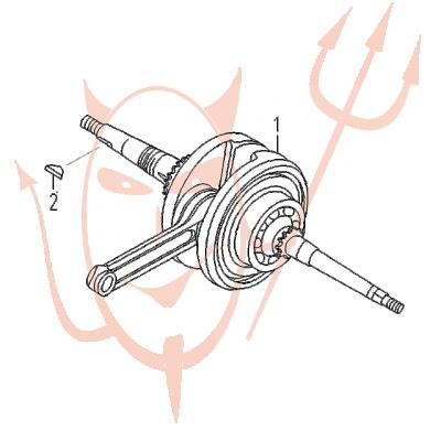 4-Takt Motor (152-QMI) 125 ccm - Kurbelwelle