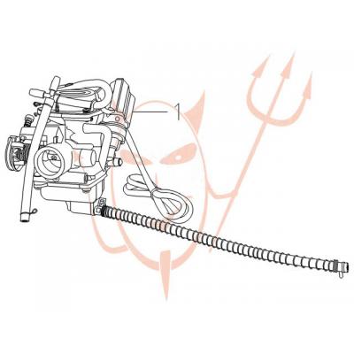 4-Takt Motor (152-QMI) 125 ccm - Vergaser