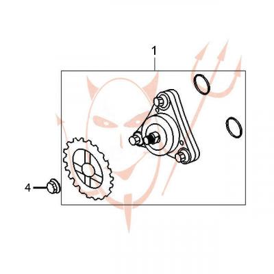 4-Takt Motor (139-QMB) 50 ccm - Ölpumpe