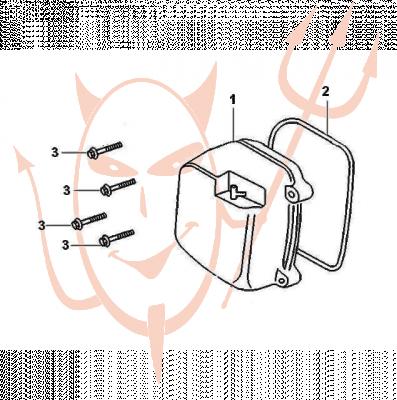 4-Takt Motor (139-QMB) 50 ccm - Ventildeckel