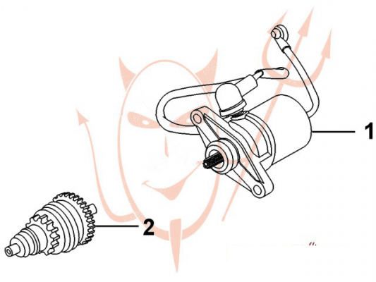 4-Takt Motor (139-QMB) 50 ccm - Anlasser