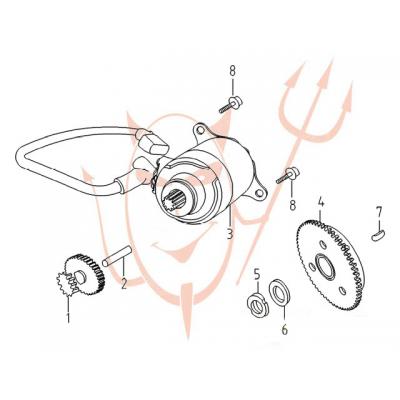 4-Takt Motor (152-QMI) 125 ccm - Anlasser