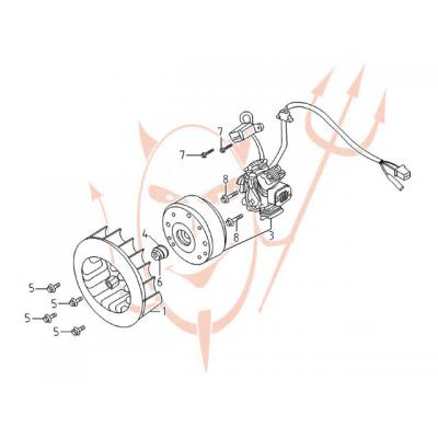4-Takt Motor (152-QMI) 125 ccm - Lichtmaschine