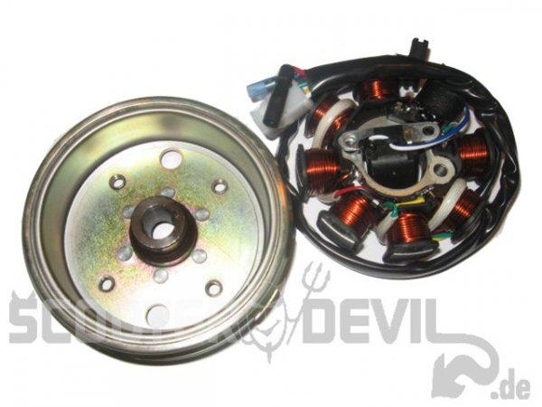 Lichtmaschine 3-Kabel Version m. Polrad