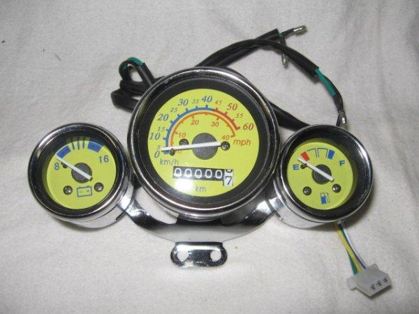 Tachoeinheit mit Voltmeter (Gelb)